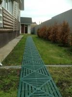 Садовая плитка из пластика для дорожек