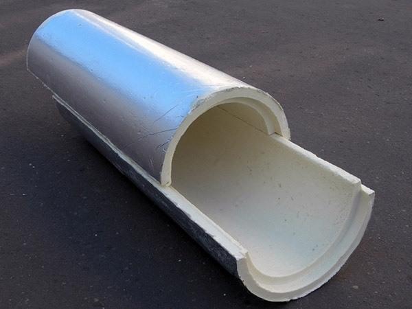 Скорлупа ППУ с фольгированным покрытием (армофол)
