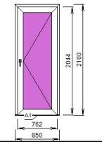 Дверь входная ПВХ 850*2100 (24 мм  TOP N энергосберегающий)