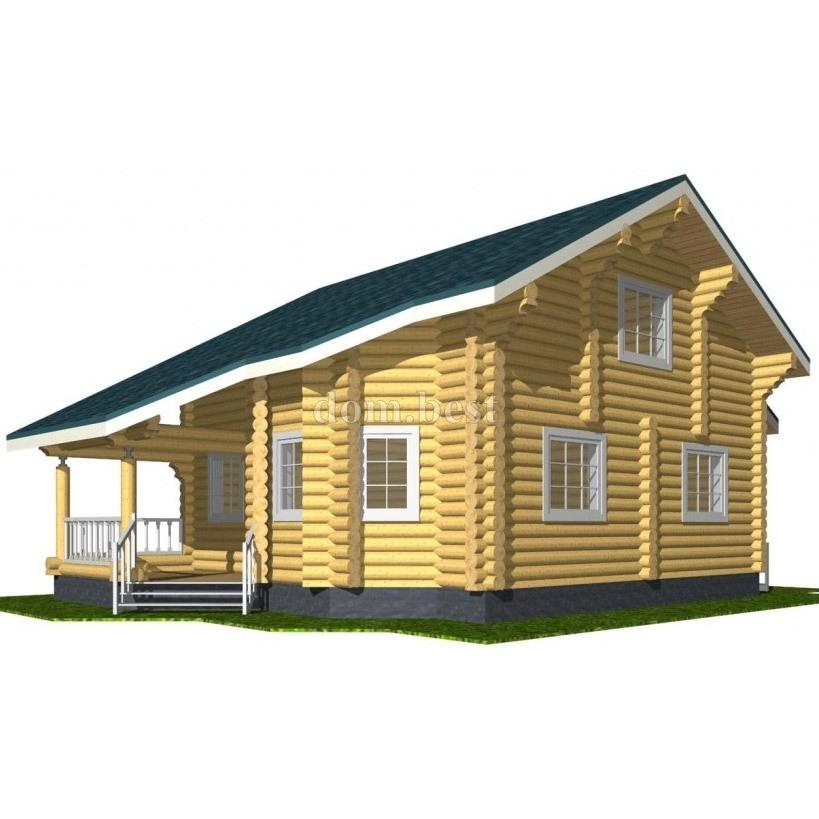 """Проект бревенчатого дома """"Жемчуг"""""""