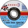 1111240 DRONCO AS 60 T Inox 1 mm отрезной круг по металлу 115х1х22,23