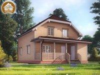 """Дом из бруса 8x10 м. проект: """"Веревск"""""""