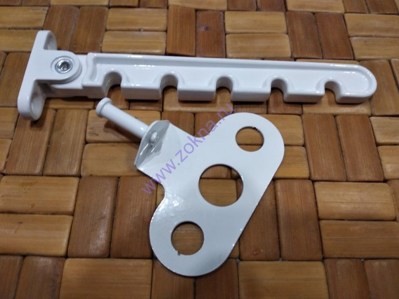 Гребенка оконная алюминиевая белая (5-ти зубая, 100 шт. уп.)