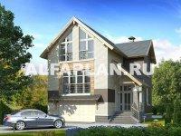 """Проект дома 72Е """"Экспрофессо"""", 192м2, 3 спальни, теплый гараж"""