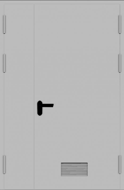 Металлические двери с вентиляционными решетками