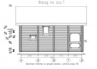 Дом из оцилиндрованного бревна 220мм. 90м2. Проект Д-101