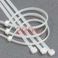 Хомуты стяжки кабельные 300 мм нейлоновые БЕЛЫЕ (3,5 х 300 мм), упаковка 100 шт., Экопласт - 45300