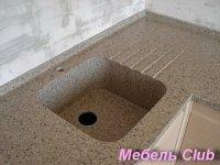 Мойки кухонные из искусственного камня, столешницы для мебели в ванную комнату