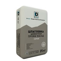 Шпаклевка цементная De Luxe Профи Фасад серая (25 кг)