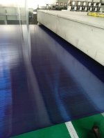 Экструзионная линия для сотового поликарбоната шириной в 2100мм, толщиной 8-10мм