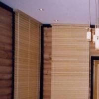 Жалюзи горизонтальные из натурального бамбука
