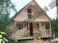 Двухэтажный деревянный дом из бруса 6*6 с террасой и балконом d1