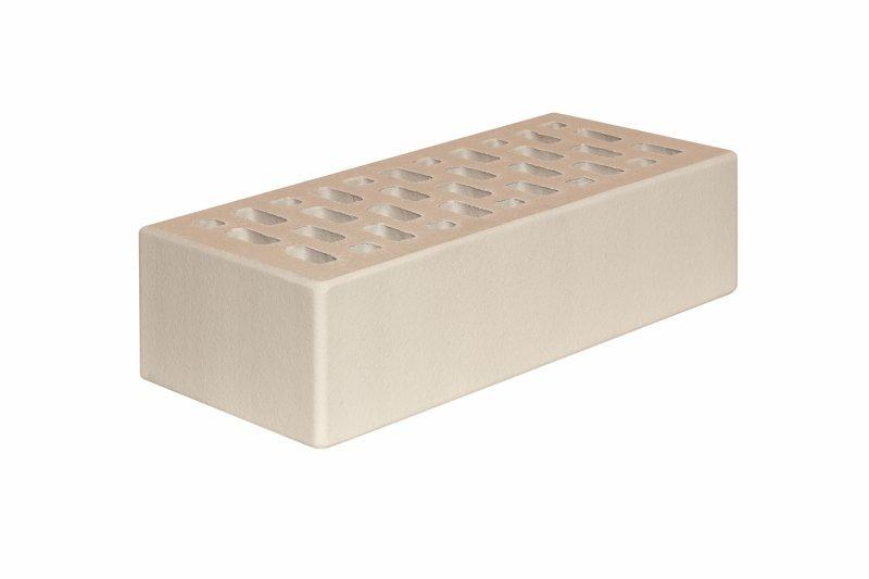 Клинкерный лицевой керамический кирпич МАГМА Керамик Белый топаз гладкий
