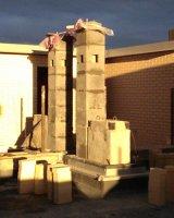 Монтаж керамического дымохода одноходового без вентиляционного канала диаметром 250 мм