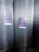 Оцинкованная сварная сетка в рулоне 50/50 из проволоки 1,6