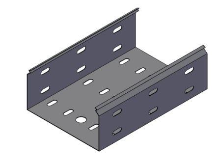 Лоток перфорированный ЛП200х80, 0,8мм., L=2000, (цинк)