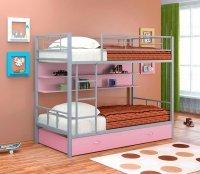 Двухъярусная кровать Севилья 2 ПЯ (Цвет-Серый/Розовый)