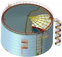 Проектирование резервуаров РВС (проект КМ, КМД)