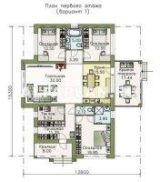 605A Современный одноэтажный коттедж с террасой