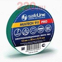 Изолента 15/10 зеленый, Safeline - SL-12119