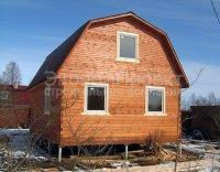 """Дом из бруса 6x8м. """"под ключ"""" Недорого! С жилой мансардой ,крыша ломаная"""