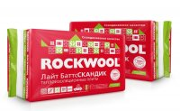 Rockwool лайт баттс скандик 800*600*100 мм