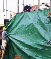 Тент полог укрывной для фасадов, кровли и пр,размер от 2х3м до 30x30м плотность 60,120 и 180 гр/м2