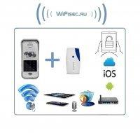 Вызывная панель видеодомофона WiFi/LAN с сенсорной кодовой клавиатурой и дополнительным беспроводным звонком, с DVR, HD (до -20)