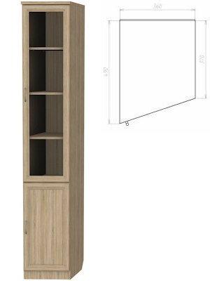 Шкаф для книг (левая консоль) (Цвет-Дуб сонома)