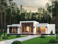 """Проект одноэтажного дома 670B """"Эрато"""", 133 м2, 3 спальни"""