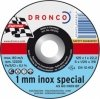 1121240 DRONCO AS 60 T Inox 1 mm отрезной круг по металлу 125х1х22,23