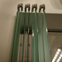 Перегородка - гармошка стеклянная