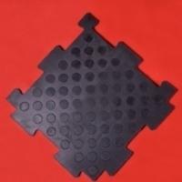 Литое резиновое сборное покрытие Плитка Резиплит 20 - резиновые PUZZLE (не крошка)
