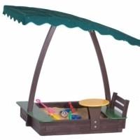Деревянные детские песочницы для дачи с крышкой с крышей с чехлом из дерева