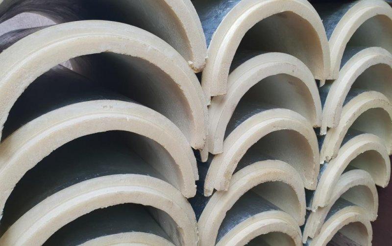 Скорлупа ППУ для теплоизоляции труб.