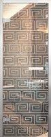 Стеклянная дверь в алюминиевой коробке для хамама
