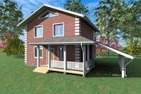 Двухэтажный жилой дом 100м2