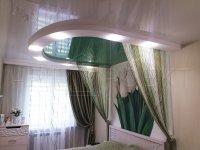 Монтаж натяжного потолка в спальной