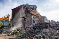 Демонтаж зданий.