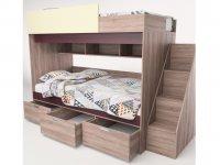 Набор мебели для жилой комнаты Бамбино 3-1 КМК 0527, дуб сонома+капучино, дуб атланта+орех