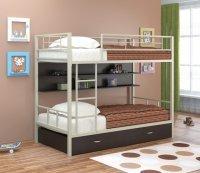 Двухъярусная кровать Севилья 2 ПЯ (Цвет-Слоновая кость/Венге)