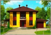 "Проект дома из пеноблоков 10 на 14 - ""Кембридж"""