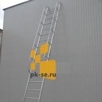Лестница односекционная приставная алюминиевая  ЛПА по ГОСТ 26887-86