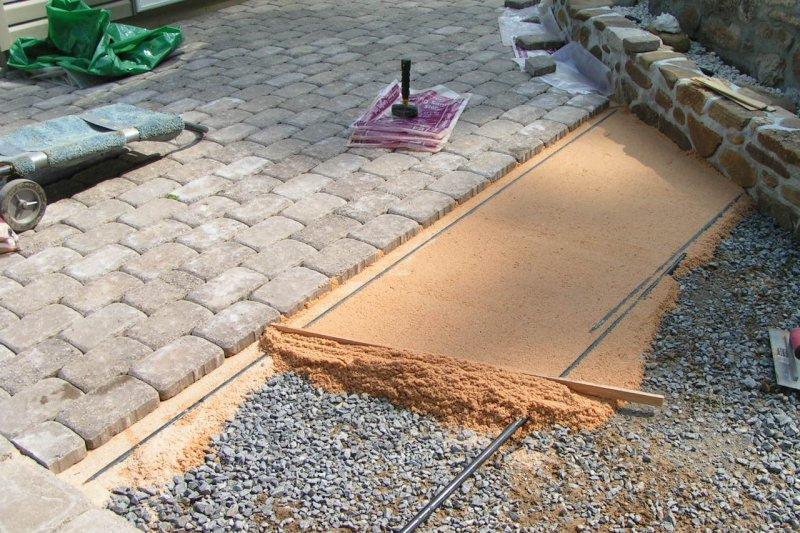 Укладка-монтаж тротуарной плитки,благоустройство.