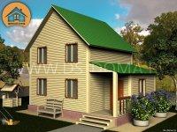"""Каркасный дом 6x8 м. проект: """"Чаща"""""""