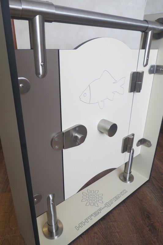 Нержавеющая объемная стальная дизайнерская фурнитура STEELKA (Германия), Склад, Hpl перегородки