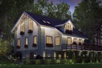 Экстерьер фасадов зданий и подсветка