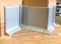 плинтус алюминиевый напольный Серебро.серый 40мм.60мм.70мм.80мм.100мм.120мм.150мм.для пола