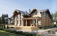 Дом из клееного бруса 185 х 200 мм, 359,85м². Размеры 17520 х 15600.