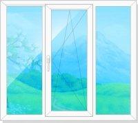 Трехстворчатое окно Эконом